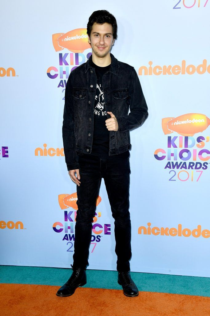 Actor Nat Wolff at Nickelodeon's 2017 Kids' Choice Awards at USC Galen Center on March 11, 2017 in Los Angeles, California.  (Photo by Frazer Harrison/Getty Images)