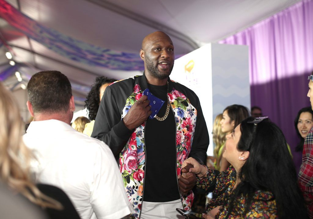 Former NBA player Lamar Odom at Nickelodeon's 2017 Kids' Choice Awards at USC Galen Center on March 11, 2017 in Los Angeles, California.  (Photo by Christopher Polk/Getty Images)
