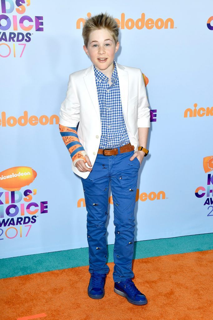 Actor Casey Simpson at Nickelodeon's 2017 Kids' Choice Awards at USC Galen Center on March 11, 2017 in Los Angeles, California.  (Photo by Frazer Harrison/Getty Images)