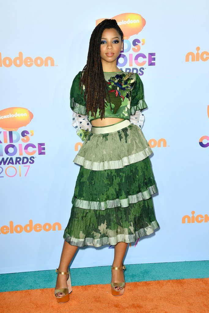 Actor Halle Bailey at Nickelodeon's 2017 Kids' Choice Awards at USC Galen Center on March 11, 2017 in Los Angeles, California.  (Photo by Frazer Harrison/Getty Images)