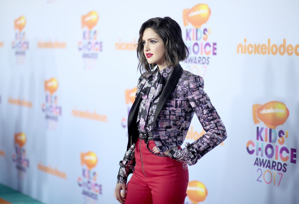 Actor Laura Marano at Nickelodeon's 2017 Kids' Choice Awards at USC Galen Center on March 11, 2017 in Los Angeles, California.  (Photo by Christopher Polk/Getty Images)
