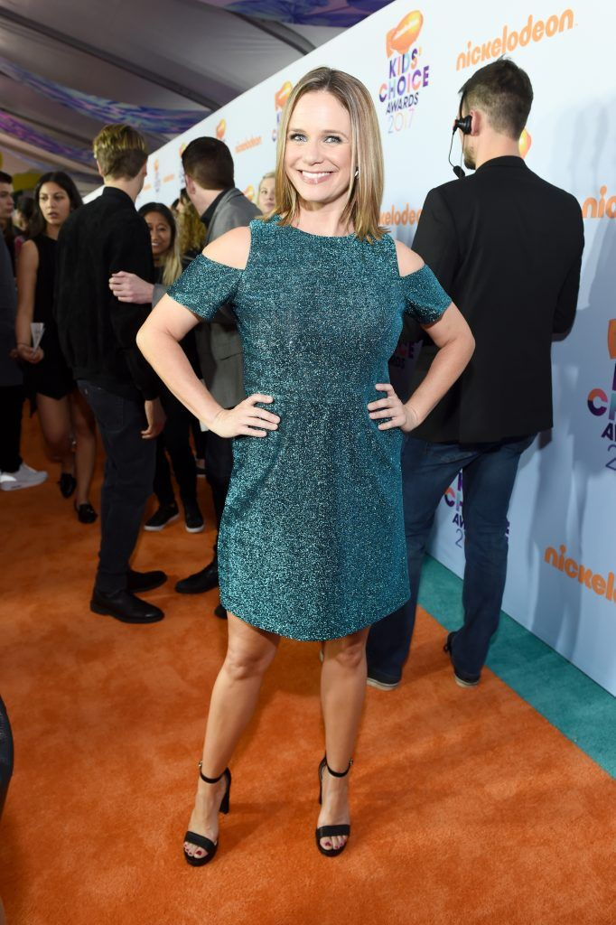 Actor Andrea Barber at Nickelodeon's 2017 Kids' Choice Awards at USC Galen Center on March 11, 2017 in Los Angeles, California.  (Photo by Emma McIntyre/Getty Images)