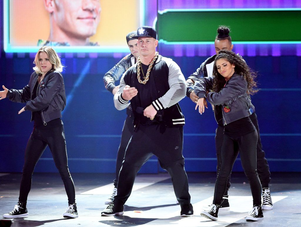 Host John Cena performs onstage at Nickelodeon's 2017 Kids' Choice Awards at USC Galen Center on March 11, 2017 in Los Angeles, California.  (Photo by Kevin Winter/Getty Images)