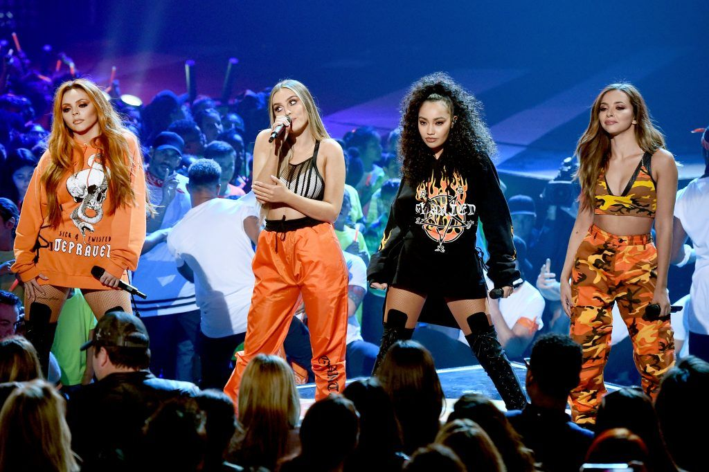 Musical group Little Mix performs onstage at Nickelodeon's 2017 Kids' Choice Awards at USC Galen Center on March 11, 2017 in Los Angeles, California.  (Photo by Kevin Winter/Getty Images)