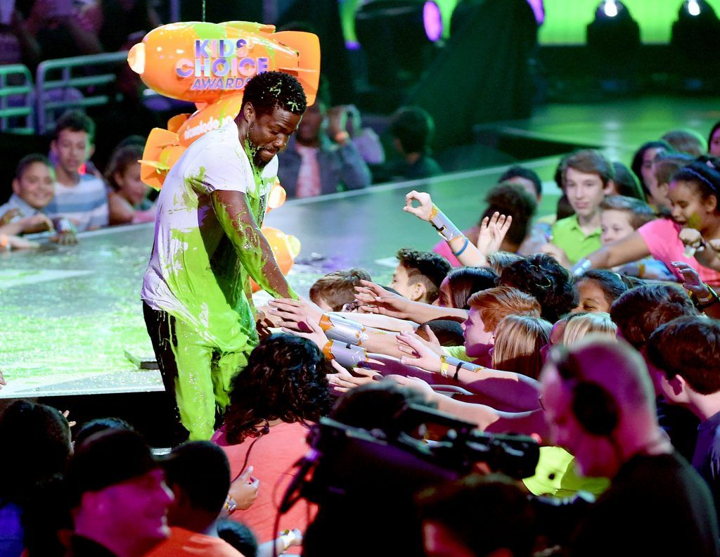 Actor Kevin Hart onstage at Nickelodeon's 2017 Kids' Choice Awards at USC Galen Center on March 11, 2017 in Los Angeles, California.  (Photo by Kevin Winter/Getty Images)