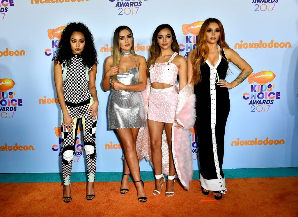 Singing group Little Mix at Nickelodeon's 2017 Kids' Choice Awards at USC Galen Center on March 11, 2017 in Los Angeles, California.  (Photo by Frazer Harrison/Getty Images)