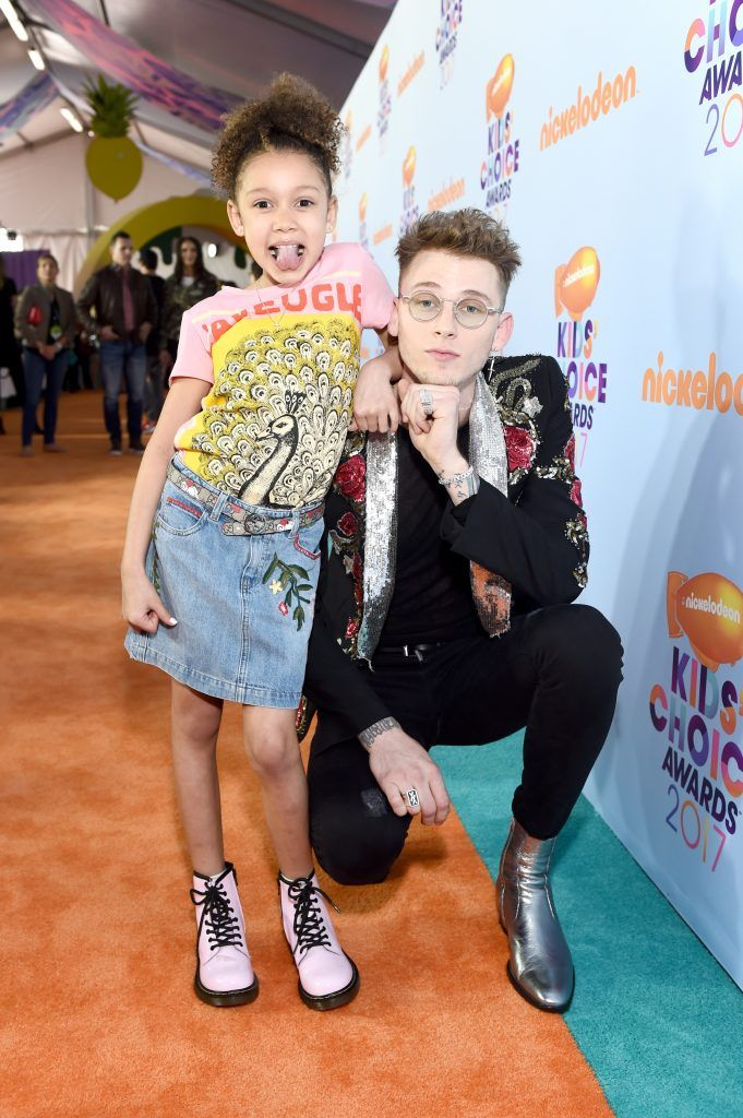 Recording artist Machine Gun Kelly (R) and Casie Colson Baker at Nickelodeon's 2017 Kids' Choice Awards at USC Galen Center on March 11, 2017 in Los Angeles, California.  (Photo by Emma McIntyre/Getty Images)