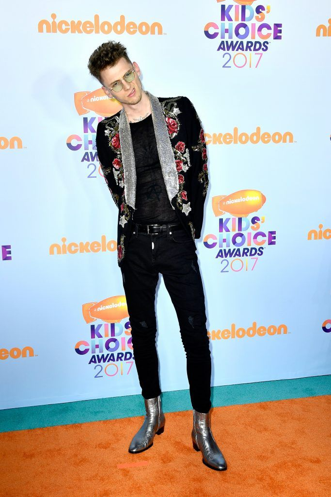 Rapper Machine Gun Kelly at Nickelodeon's 2017 Kids' Choice Awards at USC Galen Center on March 11, 2017 in Los Angeles, California.  (Photo by Frazer Harrison/Getty Images)