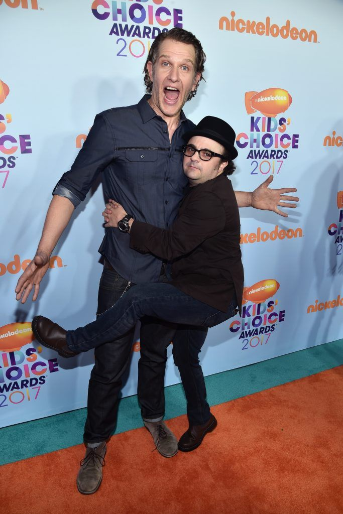 Actor Jeffrey Brown (L) and Actor  Michael Cohen at Nickelodeon's 2017 Kids' Choice Awards at USC Galen Center on March 11, 2017 in Los Angeles, California.  (Photo by Alberto E. Rodriguez/Getty Images)