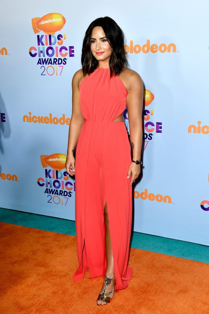 Singer Demi Lovato at Nickelodeon's 2017 Kids' Choice Awards at USC Galen Center on March 11, 2017 in Los Angeles, California.  (Photo by Frazer Harrison/Getty Images)
