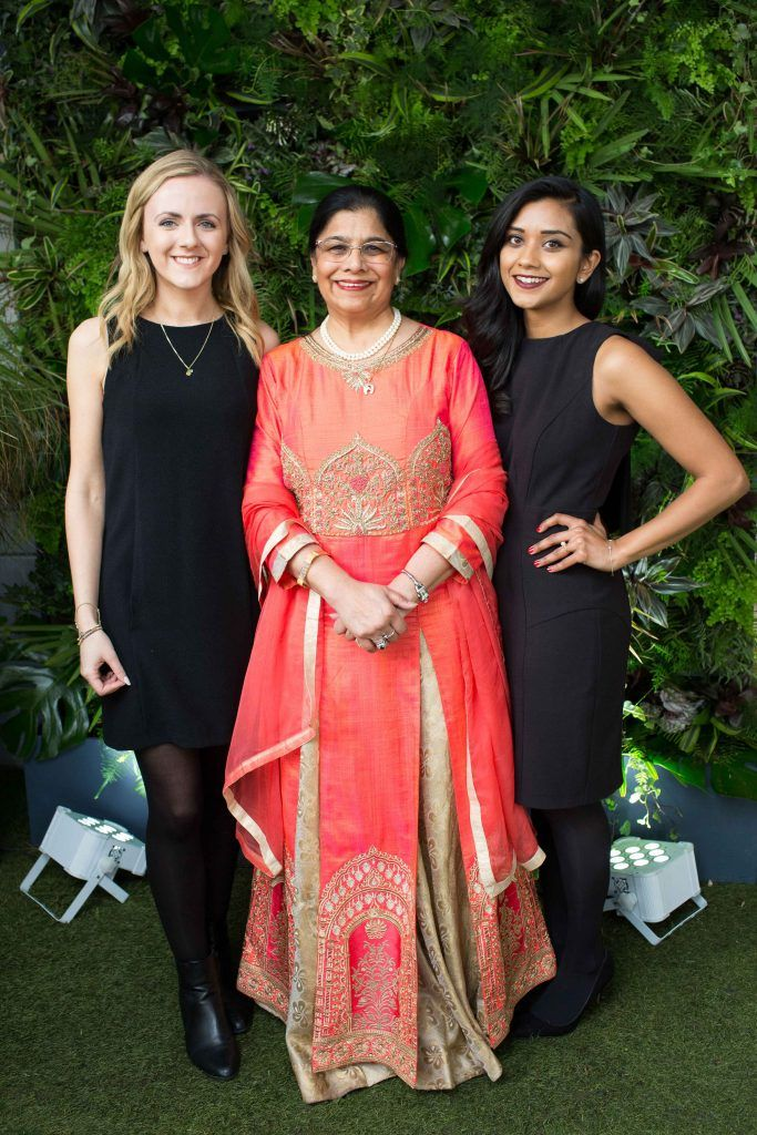 Lottie Pearce Rita Shah and Tanya Shah   pictured at the launch of the Urban Veda natural skincare range in Ireland at House Dublin, Lower Leeson St. Photo by Richie Stokes