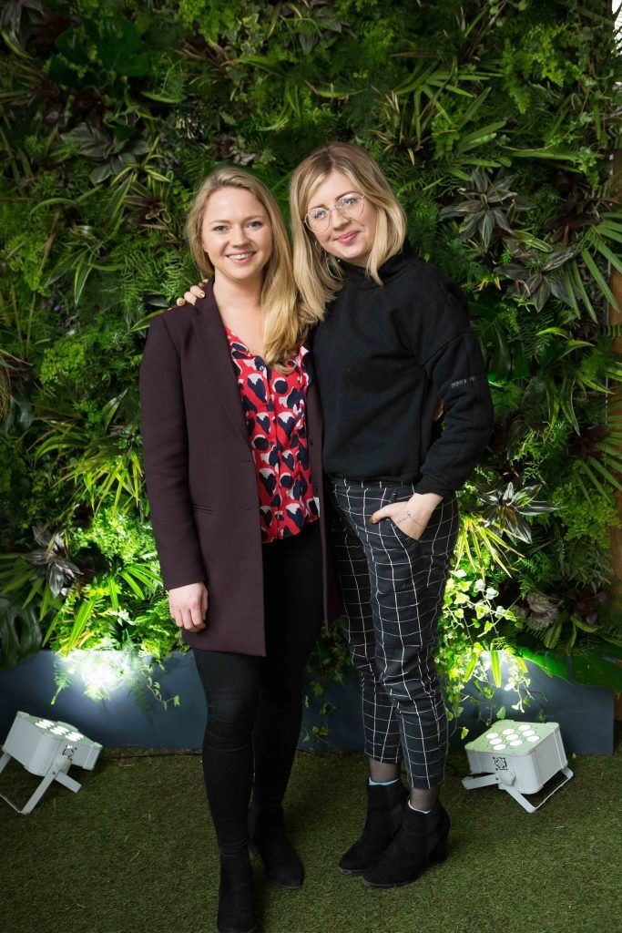 Emma Klein and Hannah Lunn  pictured at the launch of the Urban Veda natural skincare range in Ireland at House Dublin, Lower Leeson St. Photo by Richie Stokes