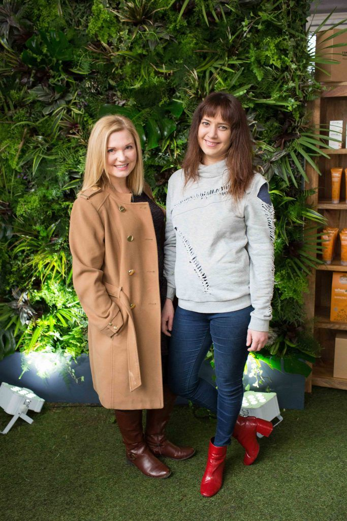 Georgina Heffernan and Joanne O ' Brien  pictured at the launch of the Urban Veda natural skincare range in Ireland at House Dublin, Lower Leeson St. Photo by Richie Stokes