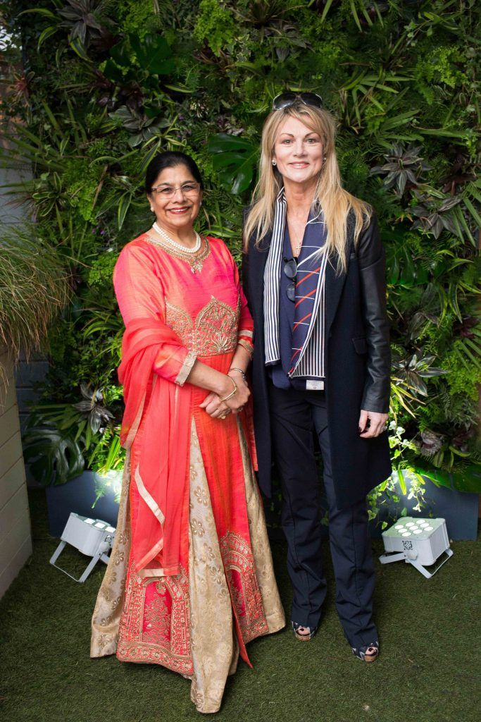 Rita Shah and Margaret Nelson  pictured at the launch of the Urban Veda natural skincare range in Ireland at House Dublin, Lower Leeson St. Photo by Richie Stokes