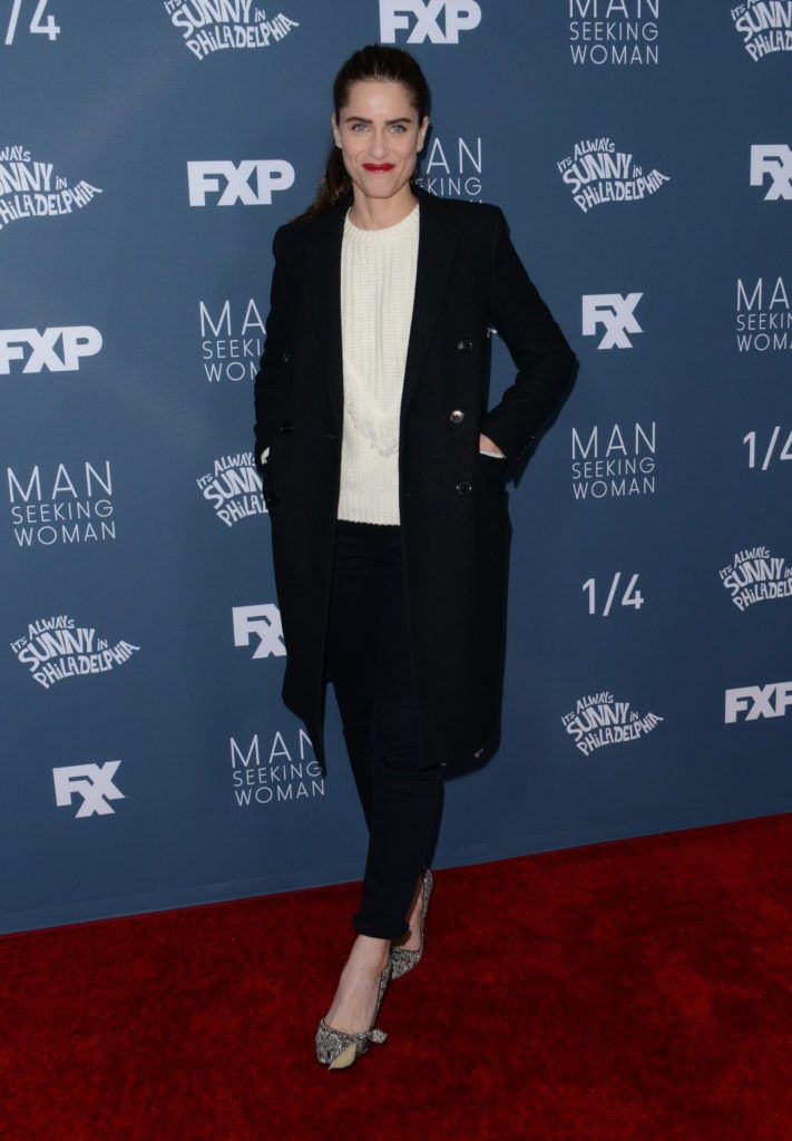 Amanda Peet attends the red carpet event for FXX's Its Always Sunny in Philadelphia season 12 and Man Seeking Woman season 3 premiere at the Fox Bruin theatre in Westwood, on January 3, 2017. (Photo CHRIS DELMAS/AFP/Getty Images)