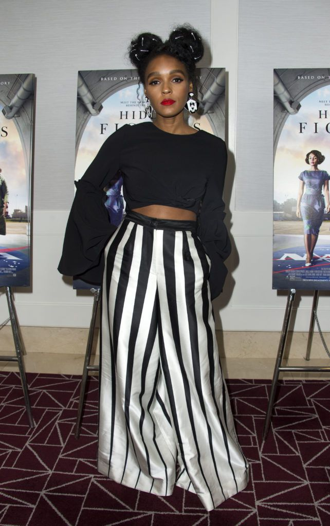 Actress Janelle Monae attends the special screening of Hidden Figures at the London Hotel in West Hollywood, California, on January 4, 2017.        (Photo VALERIE MACON/AFP/Getty Images)