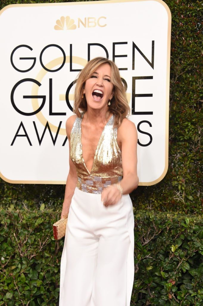 Actress Felicity Huffman arrives at the 74th annual Golden Globe Awards, January 8, 2017, at the Beverly Hilton Hotel in Beverly Hills, California.  / AFP / VALERIE MACON        (Photo credit should read VALERIE MACON/AFP/Getty Images)