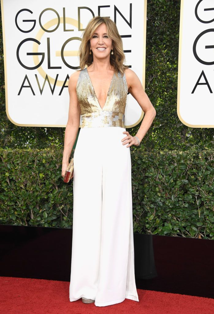 BEVERLY HILLS, CA - JANUARY 08:  Actress Felicity Huffman attends the 74th Annual Golden Globe Awards at The Beverly Hilton Hotel on January 8, 2017 in Beverly Hills, California.  (Photo by Frazer Harrison/Getty Images)
