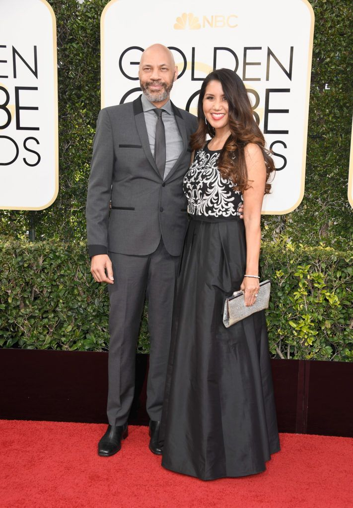 BEVERLY HILLS, CA - JANUARY 08: Screenwriter John Ridley and wife, Gayle Ridley attends the 74th Annual Golden Globe Awards at The Beverly Hilton Hotel on January 8, 2017 in Beverly Hills, California.  (Photo by Frazer Harrison/Getty Images)