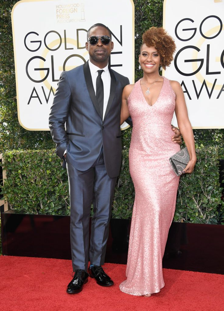 BEVERLY HILLS, CA - JANUARY 08: Actors Sterling K. Brown and Ryan Michelle Bathe attend the 74th Annual Golden Globe Awards at The Beverly Hilton Hotel on January 8, 2017 in Beverly Hills, California.  (Photo by Frazer Harrison/Getty Images)