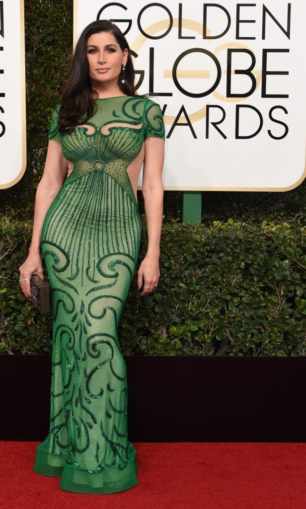 Trace Lysette arrives at the 74th annual Golden Globe Awards, January 8, 2017, at the Beverly Hilton Hotel in Beverly Hills, California.  / AFP / VALERIE MACON        (Photo credit should read VALERIE MACON/AFP/Getty Images)