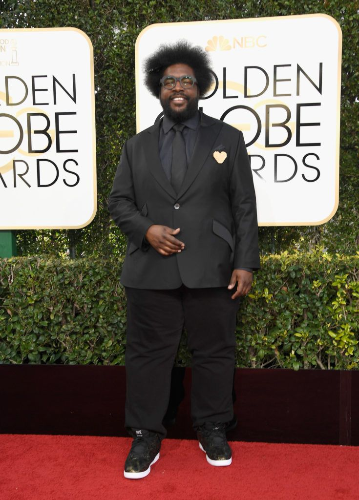 BEVERLY HILLS, CA - JANUARY 08:  Musician Questlove attends the 74th Annual Golden Globe Awards at The Beverly Hilton Hotel on January 8, 2017 in Beverly Hills, California.  (Photo by Frazer Harrison/Getty Images)