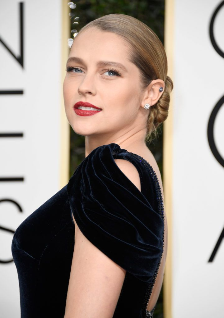 BEVERLY HILLS, CA - JANUARY 08: Actress Teresa Palmer attends the 74th Annual Golden Globe Awards at The Beverly Hilton Hotel on January 8, 2017 in Beverly Hills, California.  (Photo by Frazer Harrison/Getty Images)