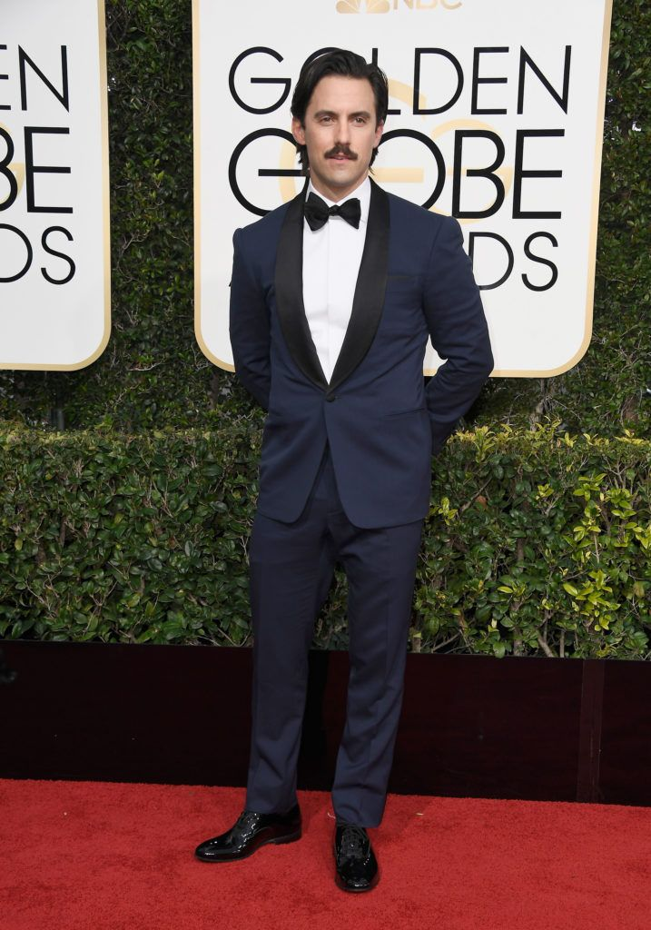 BEVERLY HILLS, CA - JANUARY 08: Actor Milo Ventimiglia attends the 74th Annual Golden Globe Awards at The Beverly Hilton Hotel on January 8, 2017 in Beverly Hills, California.  (Photo by Frazer Harrison/Getty Images)