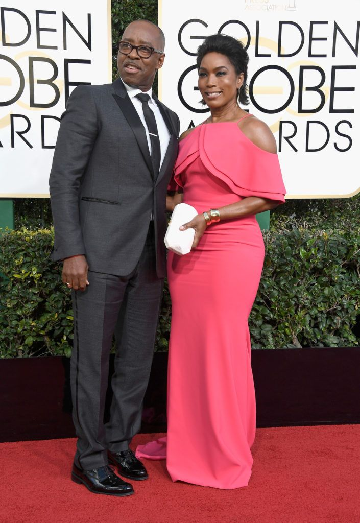 BEVERLY HILLS, CA - JANUARY 08:  Actors Courtney B. Vance (L) and Angela Bassett attend the 74th Annual Golden Globe Awards at The Beverly Hilton Hotel on January 8, 2017 in Beverly Hills, California.  (Photo by Frazer Harrison/Getty Images)