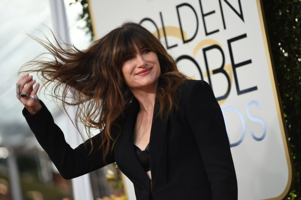 Actress Kathryn Han arrives at the 74th annual Golden Globe Awards, January 8, 2017, at the Beverly Hilton Hotel in Beverly Hills, California.      (Photo VALERIE MACON/AFP/Getty Images)