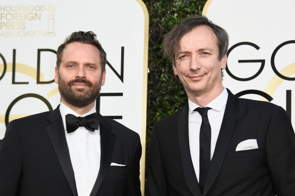 BEVERLY HILLS, CA - JANUARY 08:  Composers Dustin O'Halloran (L) and Hauschka attend the 74th Annual Golden Globe Awards at The Beverly Hilton Hotel on January 8, 2017 in Beverly Hills, California.  (Photo by Frazer Harrison/Getty Images)