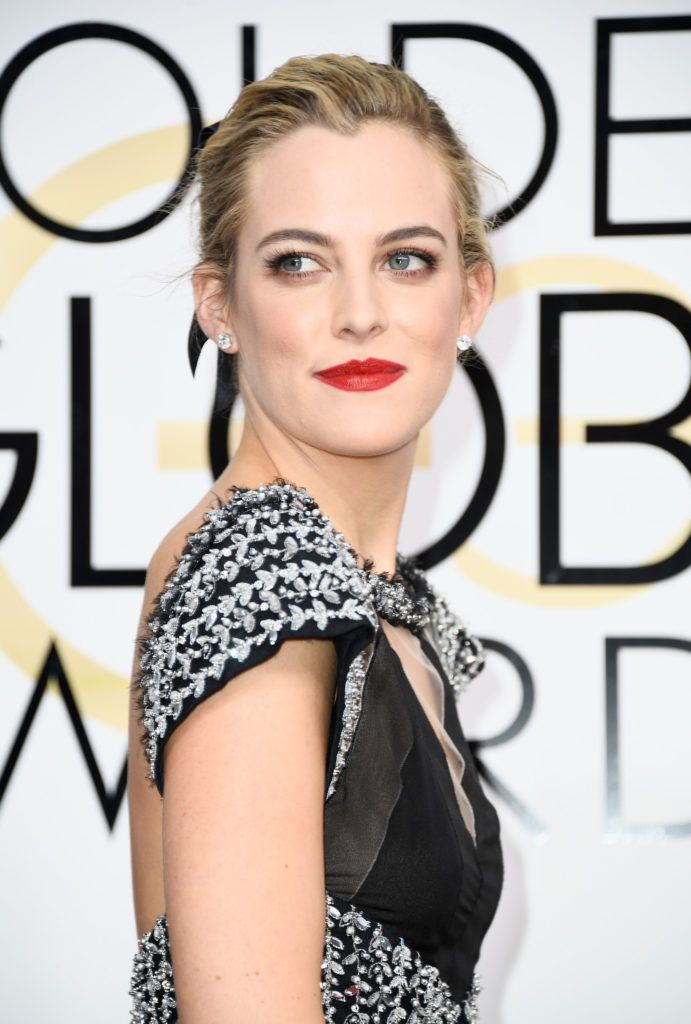 BEVERLY HILLS, CA - JANUARY 08: Actress Riley Keough attends the 74th Annual Golden Globe Awards at The Beverly Hilton Hotel on January 8, 2017 in Beverly Hills, California.  (Photo by Frazer Harrison/Getty Images)