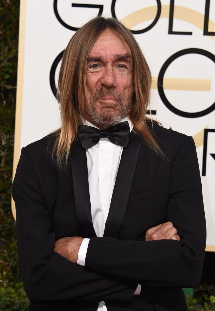 Singer Iggy Pop arrives at the 74th annual Golden Globe Awards, January 8, 2017, at the Beverly Hilton Hotel in Beverly Hills, California.   (Photo VALERIE MACON/AFP/Getty Images)