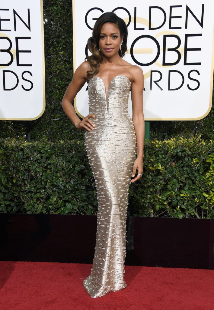 BEVERLY HILLS, CA - JANUARY 08:  Actress Naomie Harris attends the 74th Annual Golden Globe Awards at The Beverly Hilton Hotel on January 8, 2017 in Beverly Hills, California.  (Photo by Frazer Harrison/Getty Images)
