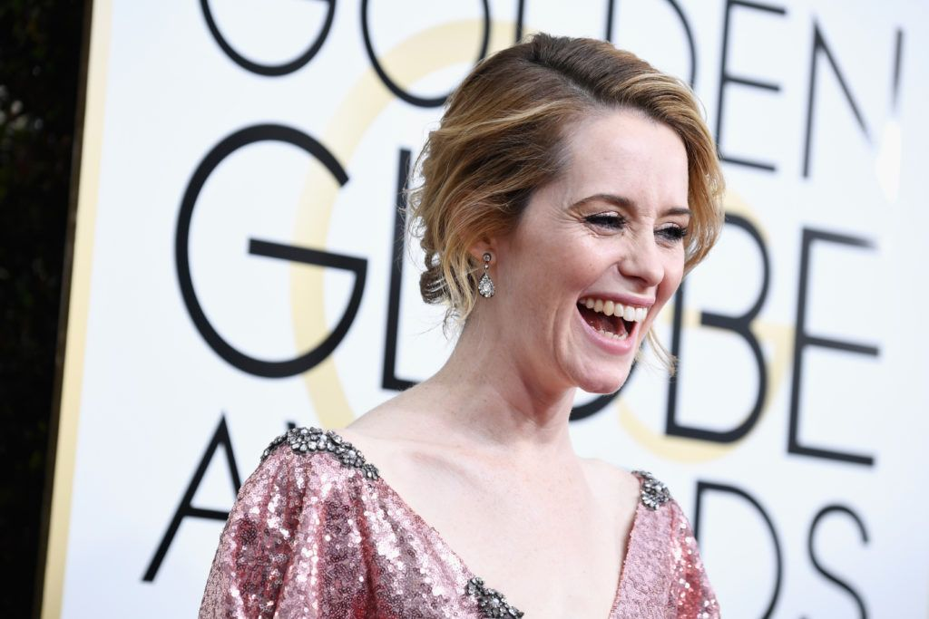 BEVERLY HILLS, CA - JANUARY 08:  Actress Claire Foy attends the 74th Annual Golden Globe Awards at The Beverly Hilton Hotel on January 8, 2017 in Beverly Hills, California.  (Photo by Frazer Harrison/Getty Images)