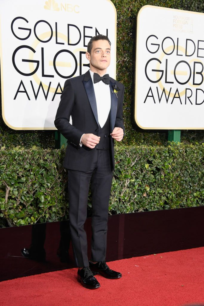 BEVERLY HILLS, CA - JANUARY 08:  Actor Rami Malek attends the 74th Annual Golden Globe Awards at The Beverly Hilton Hotel on January 8, 2017 in Beverly Hills, California.  (Photo by Frazer Harrison/Getty Images)