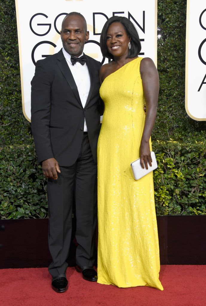 BEVERLY HILLS, CA - JANUARY 08:  Actress Viola Davis (R) and Julius Tennon attend the 74th Annual Golden Globe Awards at The Beverly Hilton Hotel on January 8, 2017 in Beverly Hills, California.  (Photo by Frazer Harrison/Getty Images)