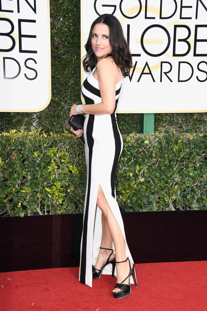 BEVERLY HILLS, CA - JANUARY 08:  Actress Julia Louis-Dreyfus attends the 74th Annual Golden Globe Awards at The Beverly Hilton Hotel on January 8, 2017 in Beverly Hills, California.  (Photo by Frazer Harrison/Getty Images)