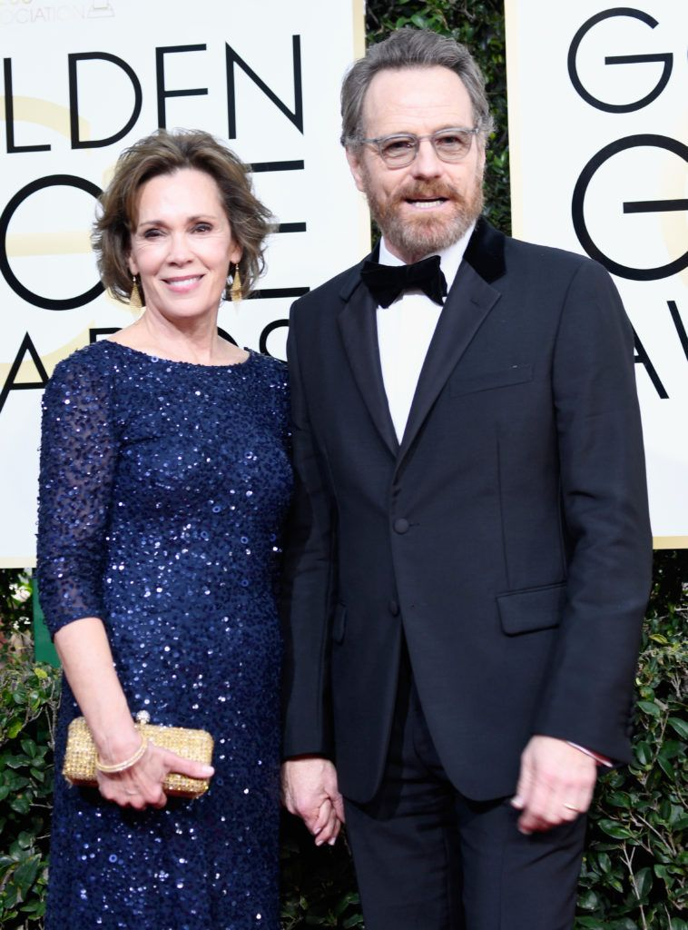 BEVERLY HILLS, CA - JANUARY 08:  Actors Robin Dearden and Bryan Cranston attend the 74th Annual Golden Globe Awards at The Beverly Hilton Hotel on January 8, 2017 in Beverly Hills, California.  (Photo by Frazer Harrison/Getty Images)
