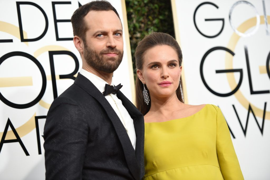 Actress Natalie Portman and Benjamin Millepied arrive at the 74th annual Golden Globe Awards, January 8, 2017, at the Beverly Hilton Hotel in Beverly Hills, California.      (Photo VALERIE MACON/AFP/Getty Images)