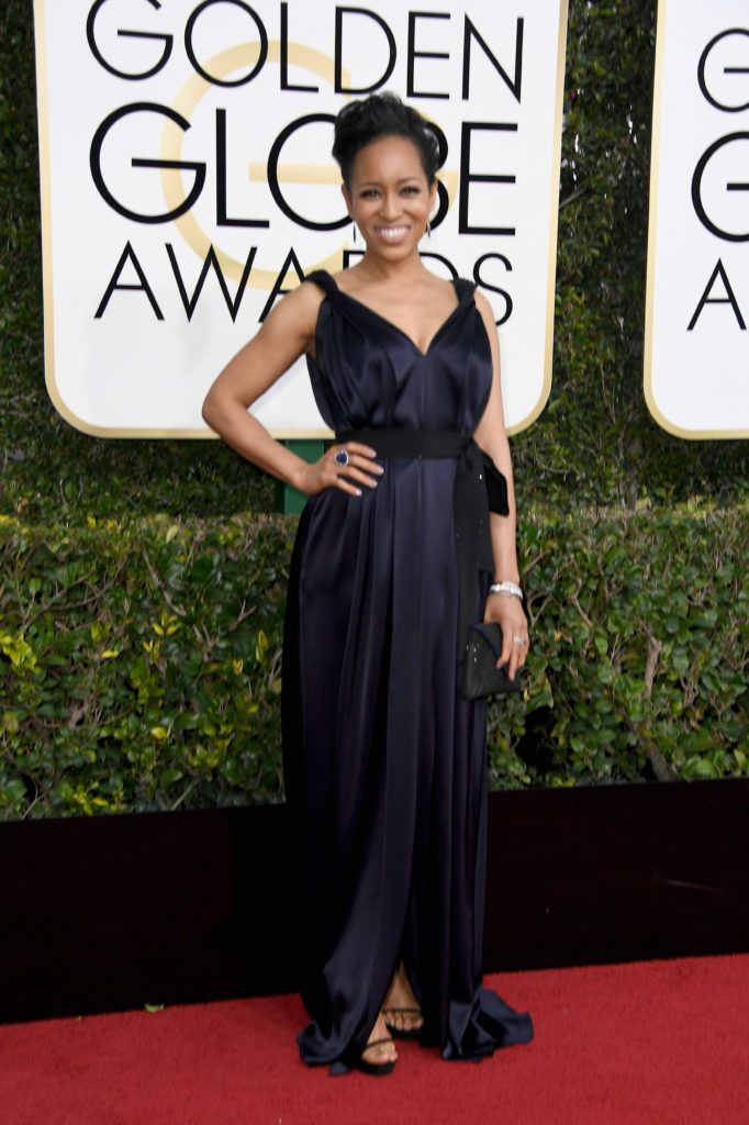 BEVERLY HILLS, CA - JANUARY 08:  Red carpet host Liza Koshy attends the 74th Annual Golden Globe Awards at The Beverly Hilton Hotel on January 8, 2017 in Beverly Hills, California.  (Photo by Frazer Harrison/Getty Images)