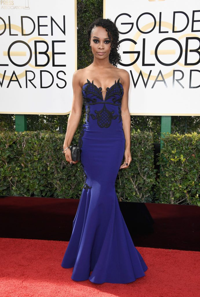 BEVERLY HILLS, CA - JANUARY 08:  TV personality Zuri Hall attends the 74th Annual Golden Globe Awards at The Beverly Hilton Hotel on January 8, 2017 in Beverly Hills, California.  (Photo by Frazer Harrison/Getty Images)