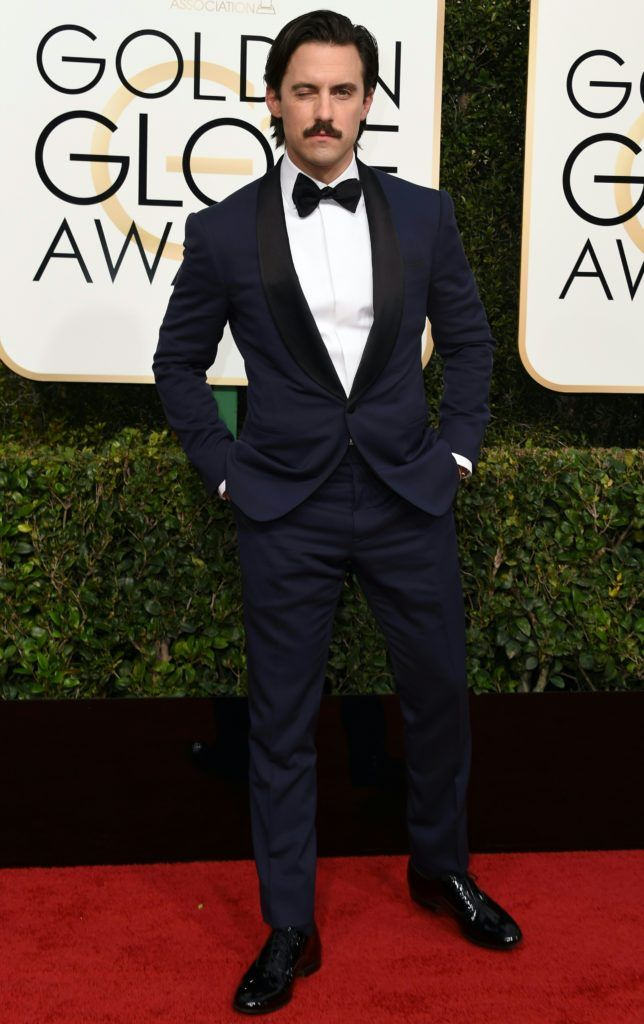 Milo Ventimiglia arrives at the 74th annual Golden Globe Awards, January 8, 2017, at the Beverly Hilton Hotel in Beverly Hills, California.        (Photo VALERIE MACON/AFP/Getty Images)