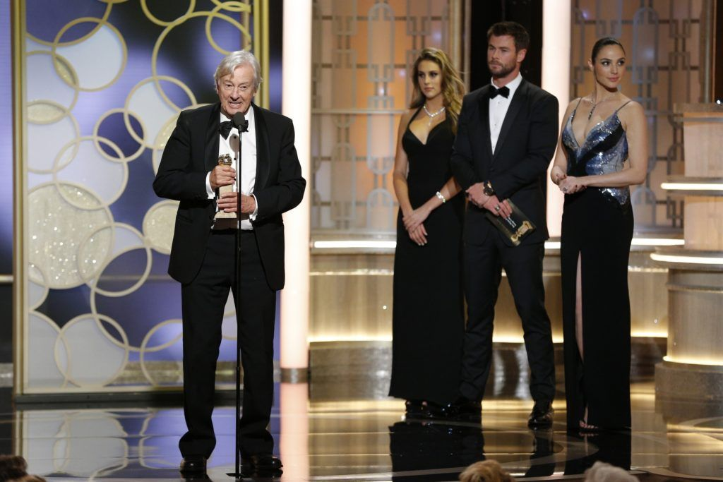 "BEVERLY HILLS, CA - JANUARY 08: In this handout photo provided by NBCUniversal, director Paul Verhoeven accepts the award for Best Foreign Language Film for ""Elle"" during the 74th Annual Golden Globe Awards at The Beverly Hilton Hotel on January 8, 2017 in Beverly Hills, California. (Photo by Paul Drinkwater/NBCUniversal via Getty Images)"