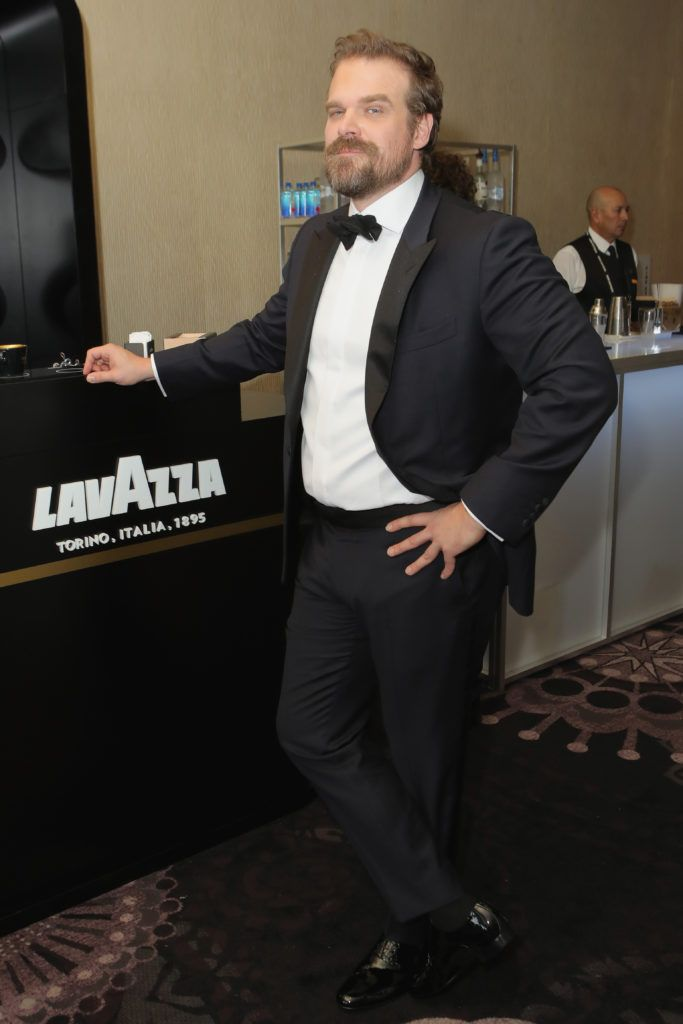 BEVERLY HILLS, CA - JANUARY 08:  Actor David Harbour attends the 74th Annual Golden Globe Awards sponsored by Lavazza, an Italian coffee brand at The Beverly Hilton Hotel on January 8, 2017 in Beverly Hills, California.  (Photo by Ari Perilstein/Getty Images for Lavazza)