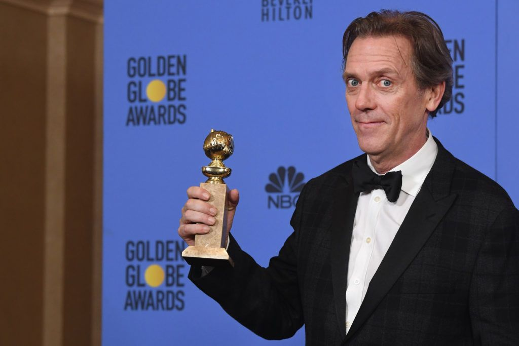 BEVERLY HILLS, CA - JANUARY 08:  Actor Hugh Laurie, winner of Best Supporting Actor in a Series, Miniseries or Television Film for 'The Night Manager,' poses in the press room during the 74th Annual Golden Globe Awards at The Beverly Hilton Hotel on January 8, 2017 in Beverly Hills, California.  (Photo by Kevin Winter/Getty Images)