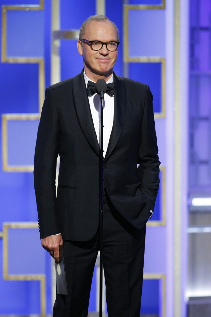 BEVERLY HILLS, CA - JANUARY 08: In this handout photo provided by NBCUniversal, presenter Michael Keaton onstage during the 74th Annual Golden Globe Awards at The Beverly Hilton Hotel on January 8, 2017 in Beverly Hills, California. (Photo by Paul Drinkwater/NBCUniversal via Getty Images)