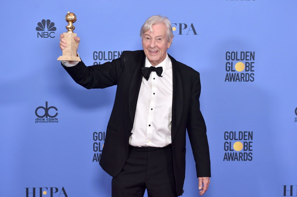 BEVERLY HILLS, CA - JANUARY 08:  Director Paul Verhoeven, winner of Best Foreign Language Film for 'Elle,' poses in the press room during the 74th Annual Golden Globe Awards at The Beverly Hilton Hotel on January 8, 2017 in Beverly Hills, California.  (Photo by Alberto E. Rodriguez/Getty Images)