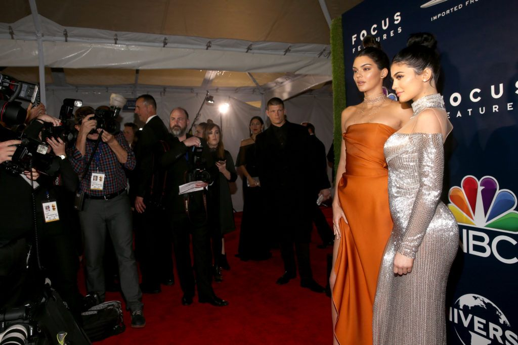 BEVERLY HILLS, CA - JANUARY 08:  Model Kendall Jenner and television personality Kylie Jenner attend the Universal, NBC, Focus Features, E! Entertainment Golden Globes after party sponsored by Chrysler on January 8, 2017 in Beverly Hills, California.  (Photo by Jesse Grant/Getty Images for NBCUniversal)