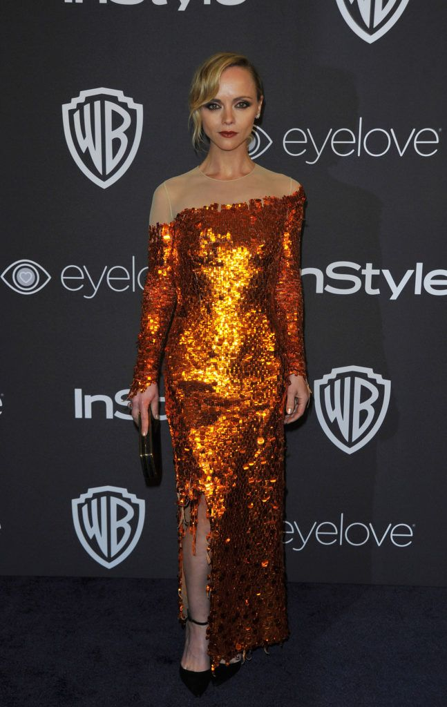 Actress Christina Ricci attends the 18th Post-Golden Globes Party hosted by Warner Bros. Pictures and InStyle at The Beverly Hilton Hotel on January 8, 2017, in Beverly Hills, California. (Photo LILLY LAWRENCE/AFP/Getty Images)